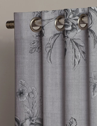 Buy Peony Floral Grey Fabric By The Metre Next Made To