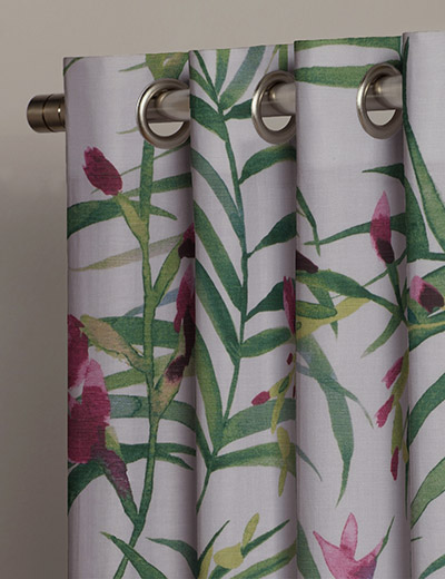 Tropical Pattern Curtains Curtain Menzilperde Net