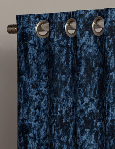 Buy Crushed Velvet Navy Fabric By The Metre Next Made