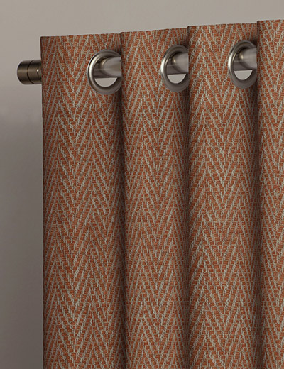 Buy Herringbone Orange Fabric By The Metre Next Made To