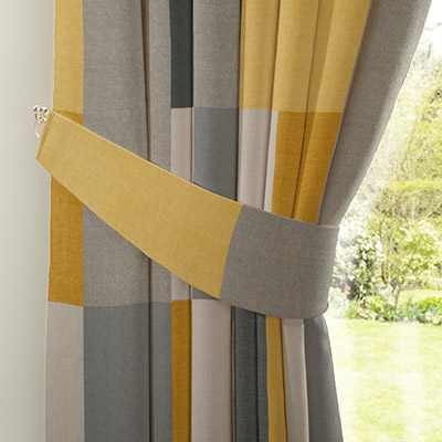 Curtain Colour Block Ochre Next Made To Measure