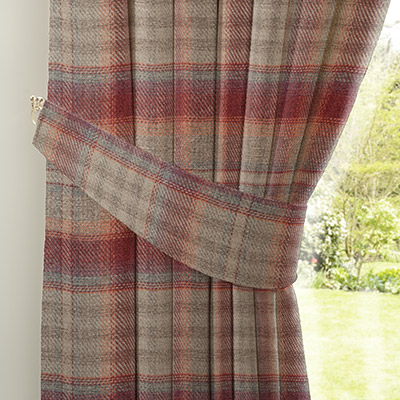 Curtain Tweedy Cranford Red Next Made To Measure