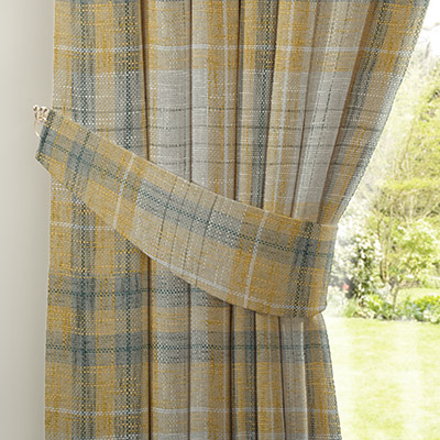 Curtain Astley Check Ochre Next Made To Measure