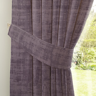 Curtain Distressed Velour Mauve Next Made To Measure