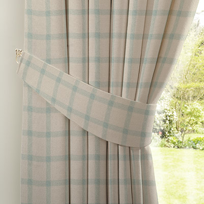 Curtain Homely Check Teal Next Made To Measure