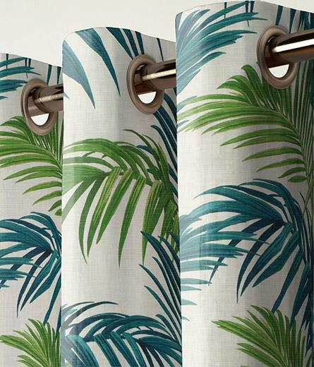Curtain Loreto Palm Green Next Made To Measure