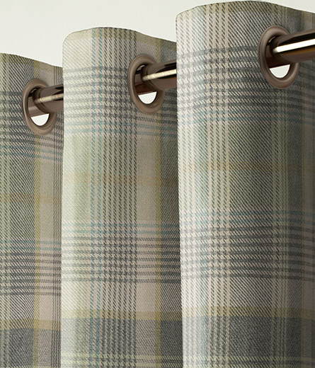 Curtain Woven Check Milton Green Next Made To Measure