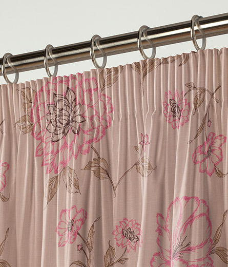 curtain montagnac fuschia next made to measure. Black Bedroom Furniture Sets. Home Design Ideas