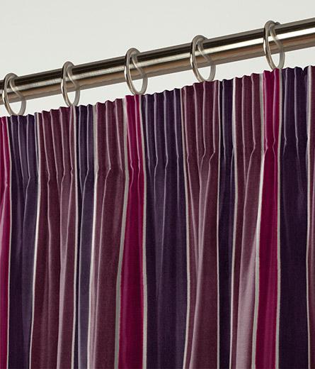 Curtain Luxury Velvet Stripe Plum Next Made To Measure