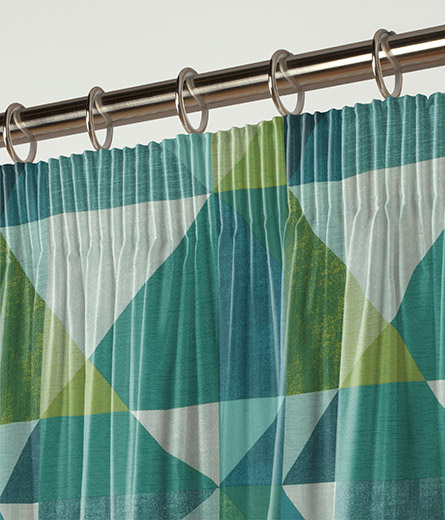 Curtain Abstract Geo Teal Next Made To Measure