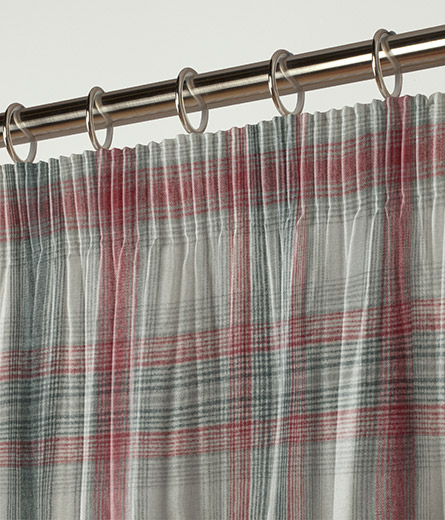 Curtain Cosy Check Red Next Made To Measure