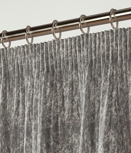 Curtain Crushed Velvet Grey