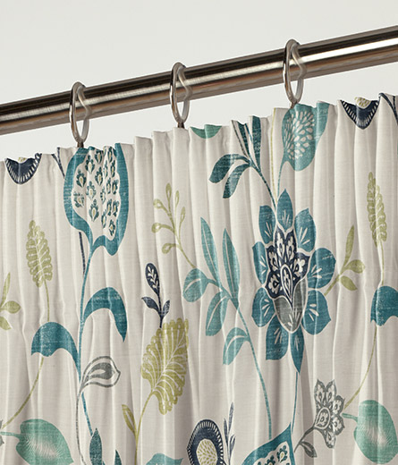 Curtain Honduras Teal Navy Next Made To Measure