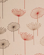 Dandelion embroidery, Linen/red