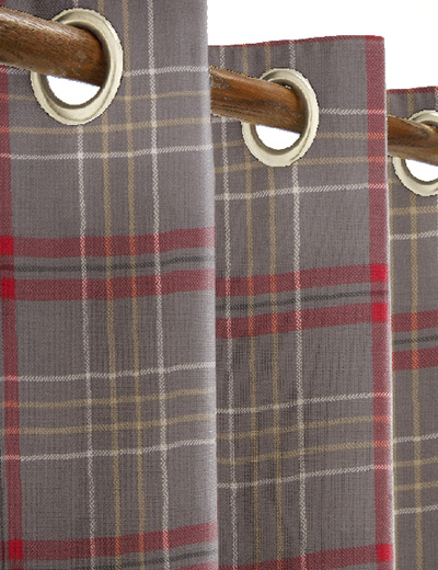 curtain details for check red grey next made to measure. Black Bedroom Furniture Sets. Home Design Ideas