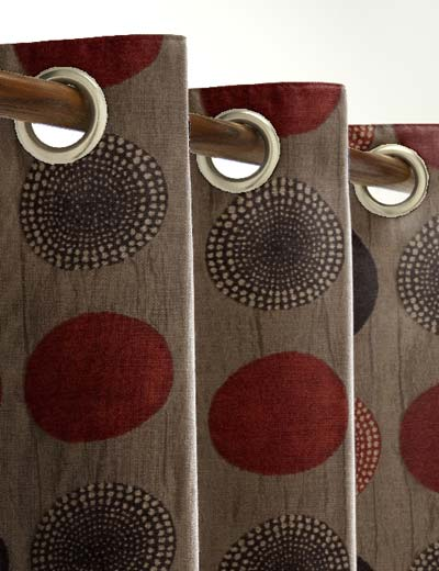 Red Curtains beige red curtains : Curtain details for ARNEZ, RED/BROWN | Curtain Express