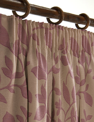 Curtain Details For JB WOBURN MAUVE Curtain Express