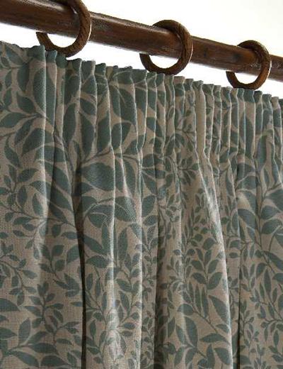 Curtain details for CAESAR, TEAL | Curtain Express