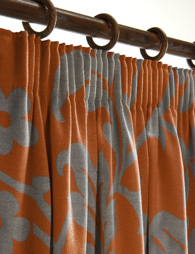 orange and gray curtains - photo #47