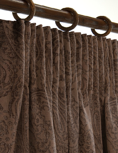 Curtain details for PAISLEY, SAND | Curtain Express