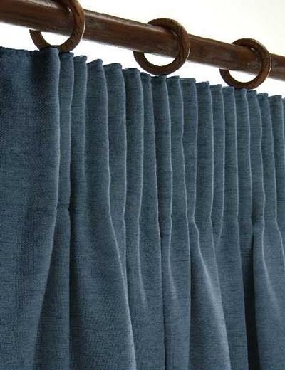 Curtain Details For YORK COBALT BLUE
