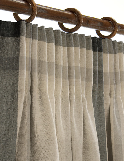 curtain details for oversized check natural grey next. Black Bedroom Furniture Sets. Home Design Ideas