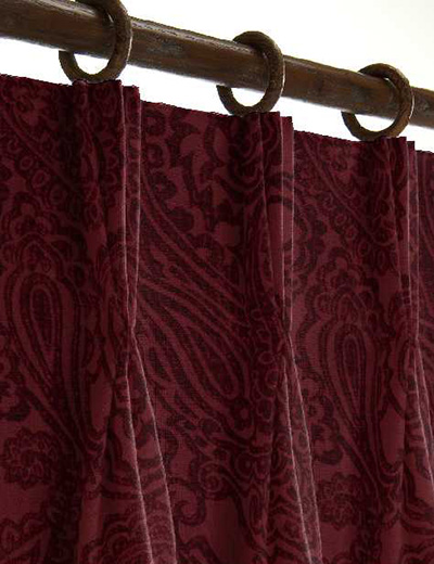 curtain details for paisley wine next made to measure. Black Bedroom Furniture Sets. Home Design Ideas