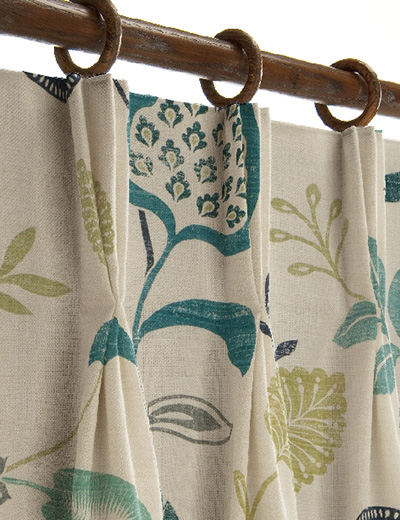 curtain details for honduras teal navy curtain express
