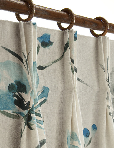 curtain details for painted floral teal next made to. Black Bedroom Furniture Sets. Home Design Ideas