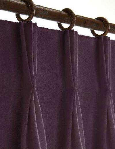 Curtain details for ESKIMO, AUBERGINE   Curtain Express