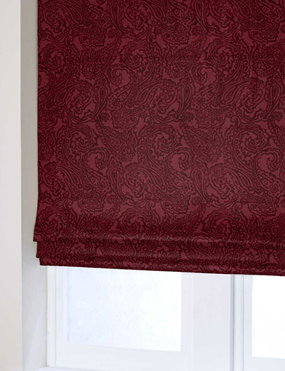 Curtain Paisley Wine Next Made To Measure