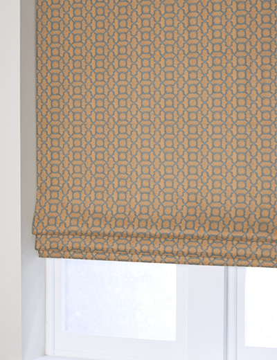 Curtain Geo Jacquard Copper Next Made To Measure