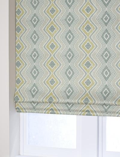 Curtain Diamond Geo Ochre Next Made To Measure