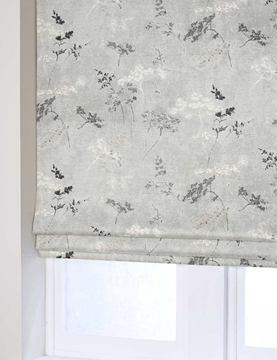 Curtain Cow Parsley Print Grey Next Made To Measure