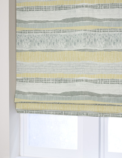 Curtain Textured Stripe Print Ochre Next Made To Measure