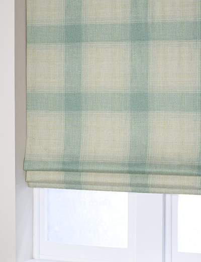 Curtain Woven Check Teal