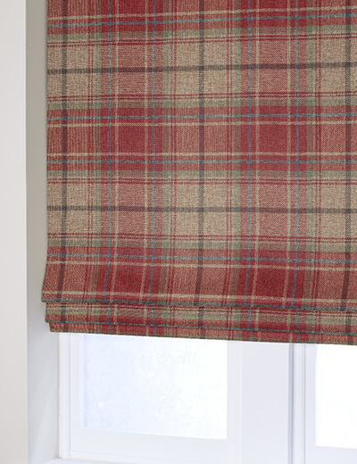 Curtain Morcott Woven Check Red Next Made To Measure