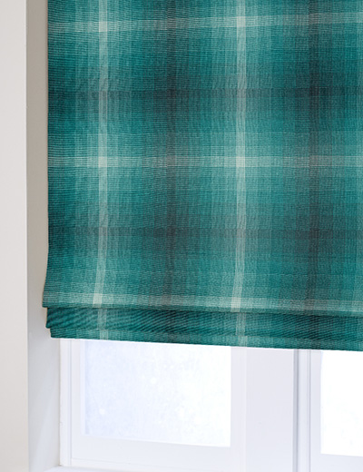 Curtain Fulton Check Teal Next Made To Measure