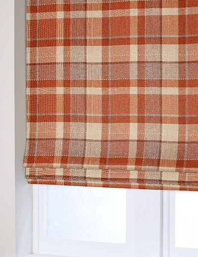 Blind Rustic Woven Check Ginger Next Made To Measure