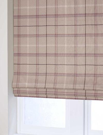 Curtain Soft Check Mauve Next Made To Measure