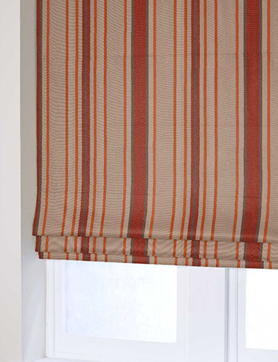 Curtain Country Woven Stripe Orange Next Made To Measure