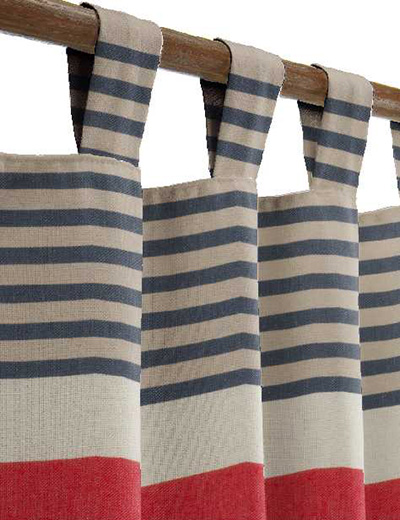 Curtain Details For Bretton Horizontal Stripe Red Next Made To Measure