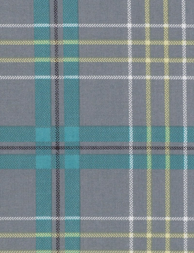 Buy Check Teal Grey Fabric By The Metre Next Made To