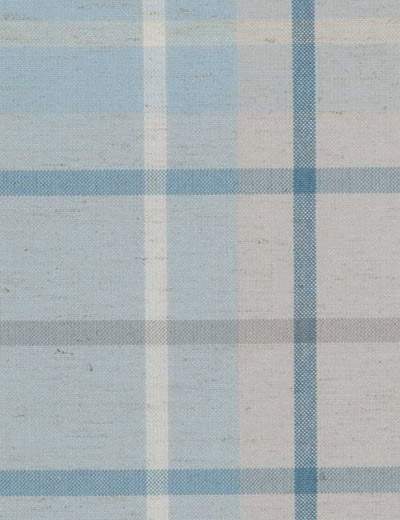 Curtain Linen Look Check, Blue | Next Made To Measure