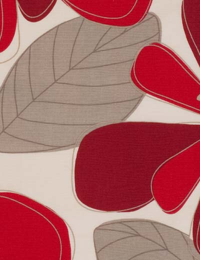 Curtain Autumn Floral Red