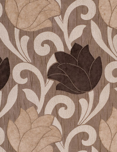 Curtain details for LUCILLE, CHOCOLATE/MINK | Curtain Express