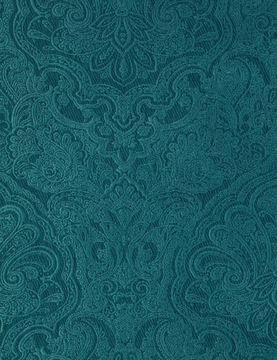 Curtain Damask Jacquard Teal Next Made To Measure