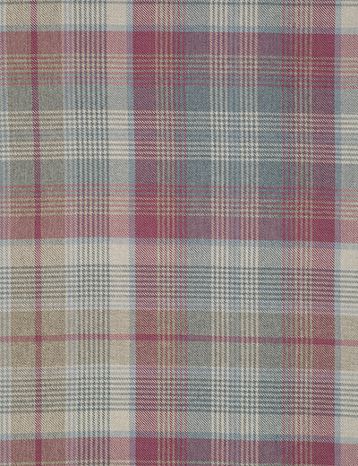 Curtain details for MULTI WOVEN CHECK, BLUE/RASPBERRY | Next Made To ...