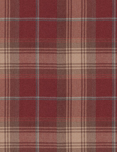 Curtain Woven Check Stirling Red Next Made To Measure