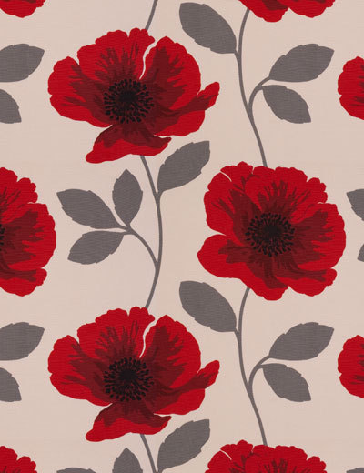 Curtain Poppy Print Red Next Made To Measure